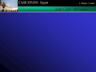 CASE STUDY:  Egypt