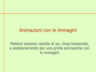 Animazioni con le immagini