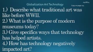 Globalization Art Technology