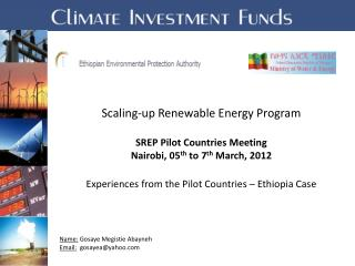 Scaling-up Renewable Energy Program  SREP Pilot Countries Meeting