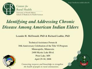 Identifying and Addressing Chronic Disease Among American Indian Elders