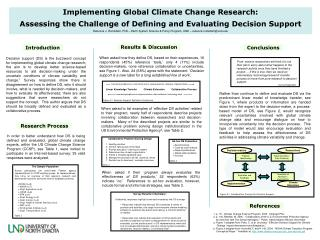 Implementing Global Climate Change Research: