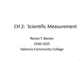 CH 2:  Scientific Measurement