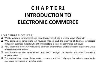 C H A P T E R1 INTRODUCTION TO ELECTRONIC COMMERCE