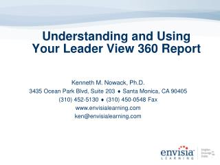 Understanding and Using Your Leader View 360 Report