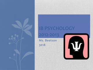 IB Psychology 2012-2013