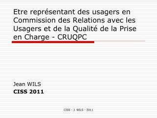 Jean WILS CISS 2011