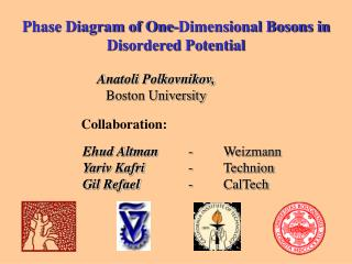 Phase Diagram of One-Dimensional Bosons in Disordered Potential