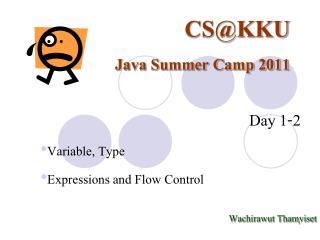 CS@KKU Java Summer Camp 2011