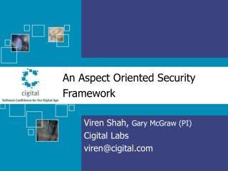 An Aspect Oriented Security Framework