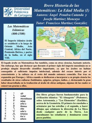 Las Matemáticas  Islámicas  (800-1500)