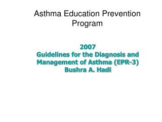Asthma Education Prevention Program