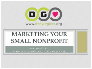 Marketing Your Small Nonprofit