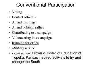Conventional Participation