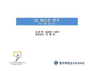 SC  테넌트  연구 패션 .  잡화 중심으로
