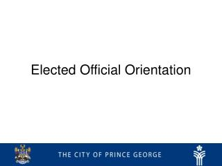 Elected Official Orientation