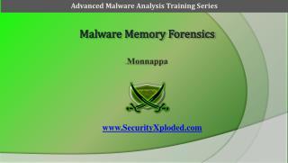Malware Memory Forensics