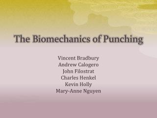 The Biomechanics of Punching
