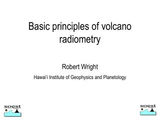 Basic principles of volcano  radiometry