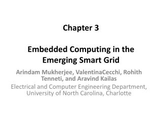Chapter 3 Embedded Computing in the Emerging Smart Grid