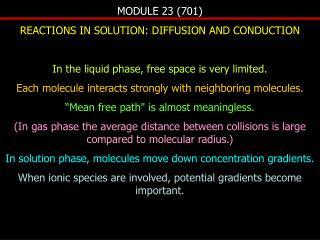 MODULE 23 (701)