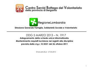 DDG 5 MARZO 2013 – N. 1917