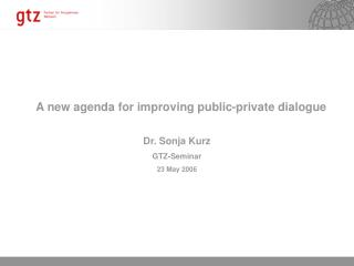 A new agenda for improving public-private dialogue