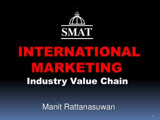 INTERNATIONAL    MARKETING    Industry Value Chain Manit Rattanasuwan