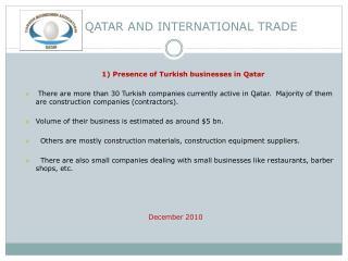 QATAR AND INTERNATIONAL  TRADE