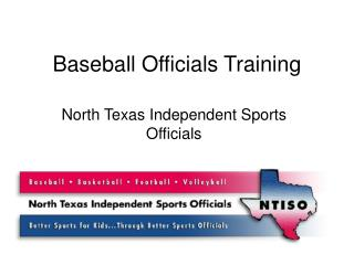 Baseball Officials Training