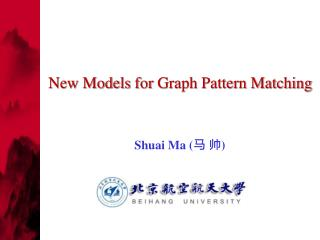 New Models  for  Graph Pattern Matching