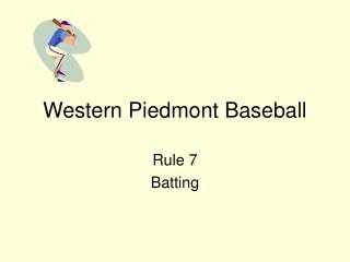 Western Piedmont Baseball