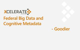 Federal Big Data  and Cognitive  Metadata 						- Goodier