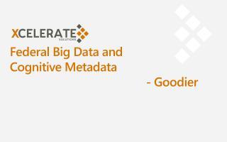 Federal Big Data  and Cognitive  Metadata - Goodier