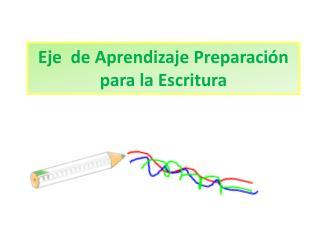 Eje  de Aprendizaje Preparación para la Escritura