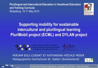 MIRJAM EGLI CUENAT ET KATHARINA HÖCHLE MEIER Pädagogische Hochschule St. Gallen (Switzerland)
