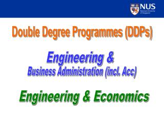 Double Degree Programmes (DDPs)