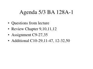 Agenda 5/3 BA 128A-1