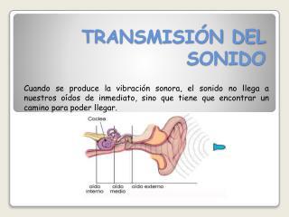 TRANSMISI�N DEL SONIDO