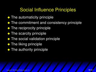 Social Influence Principles