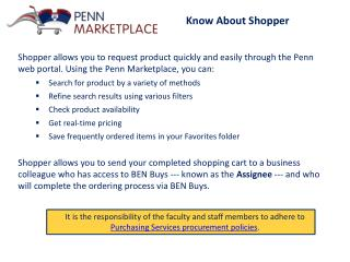 Know About Shopper