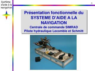 Présentation fonctionnelle du SYSTEME D'AIDE A LA NAVIGATION Centrale de commande SIMRAD