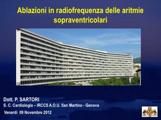 Ablazioni in radiofrequenza delle aritmie sopraventricolari