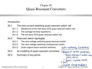 Chapter 20 Quasi-Resonant Converters