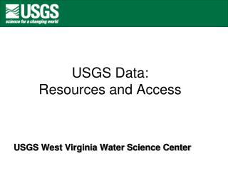 USGS Data: Resources and Access