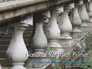 NRI National Register Primer WebPres