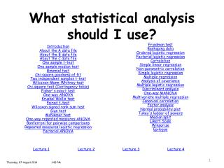 What statistical analysis should I use?