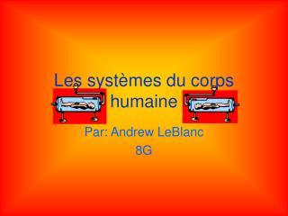 Les systèmes du corps humaine