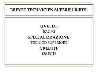 BREVET TECHNICIEN SUPERIEUR(BTS)