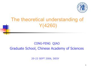 The theoretical understanding of                          Y(4260)